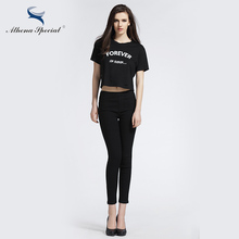 Athena Special 2017 Fashion Women Pant Skinny Pencil Pants Comfortable Female Black Capris Trousers OL Women Pencil Pants
