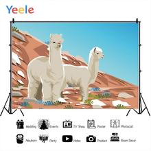 Yeele Cartoon Alpaca Mountain Landscape Professional Portrait Photography Backdrops Photographic Backgrounds For Photo Studio