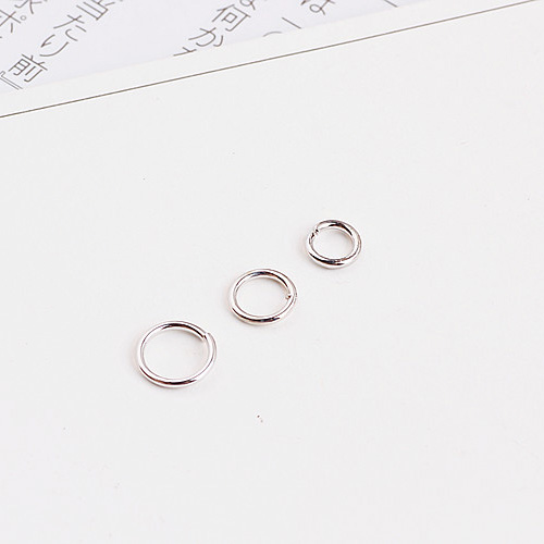 3/4/5/6/7mm Open Jump Rings Silver/gold Split Connectors For Diy Jewelry Finding Open Circle  Earrings Making Accessories