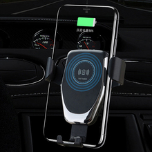 QI Wireless Charger 10W Mobile Phone Fast Charger Bracket Mount Car Air Vent Phone Holder For iPhone XS XR X 8 Samsung Hu