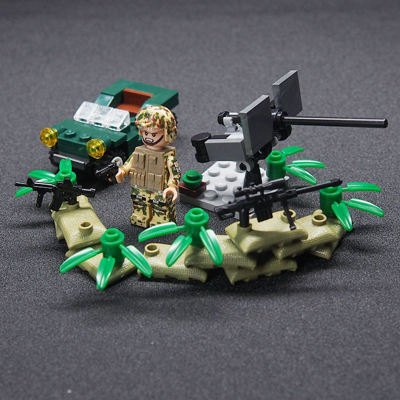 Image 5 - WW2 Military weapon gun soldier Set Army Schwarzwald Building brick Kids DIY Compatible Legoings Toy For Kids-in Blocks from Toys & Hobbies