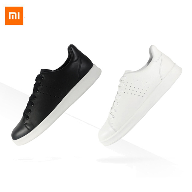 New Xiaomi Release Tie Freetie Leisure Genuine Leather Intelligent Board Shoes Breathable...