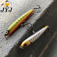 1pc  70mm 7g Fishing lure pencil flutter stick bait woobber fishing tackle hard pencil lure VMC hooks ,jerkbait sinking minnow