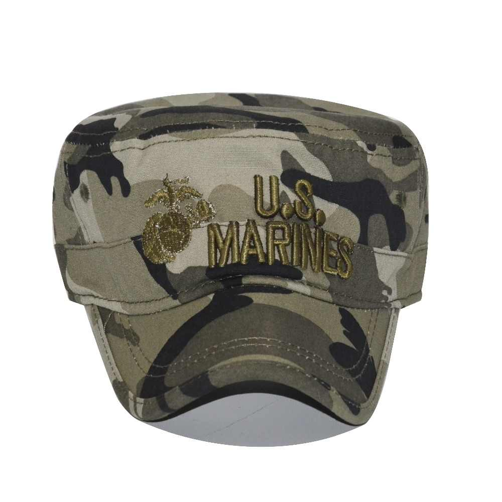 666ba40cf83 ... 2018 United States US Marines Corps Cap Hat Military Hats Camouflage Flat  Top Hat Men Cotton ...