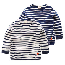 The boy stripe long sleeve T-shirt in the autumn of 2016 the new children's clothing Han edition children baby U2518 render