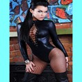 Lace Up Catsuit Women Sexy Black Leather Bodysuit Erotic Leotard Costume Rubber Flexible Hot Sexy Latex Catsuit Catwomen Costume