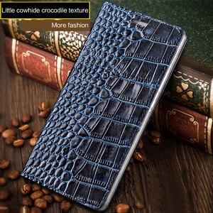 Image 3 - Wangcangli marca de telefone caso genuíno couro de crocodilo textura Lisa 7X handmade caixa do telefone caixa do telefone Para Huawei Honra