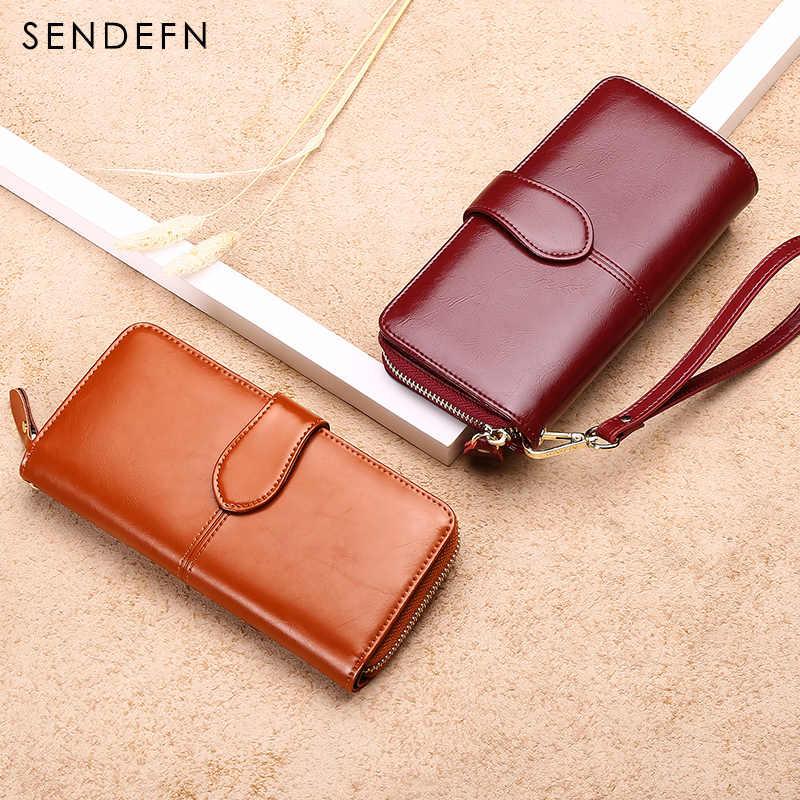 SENDEFN дизайн кошелек женский кожаный кошелек держатель для карт длинный женский большой емкости кошелек на молнии Carteira Feminina 8002W2-6