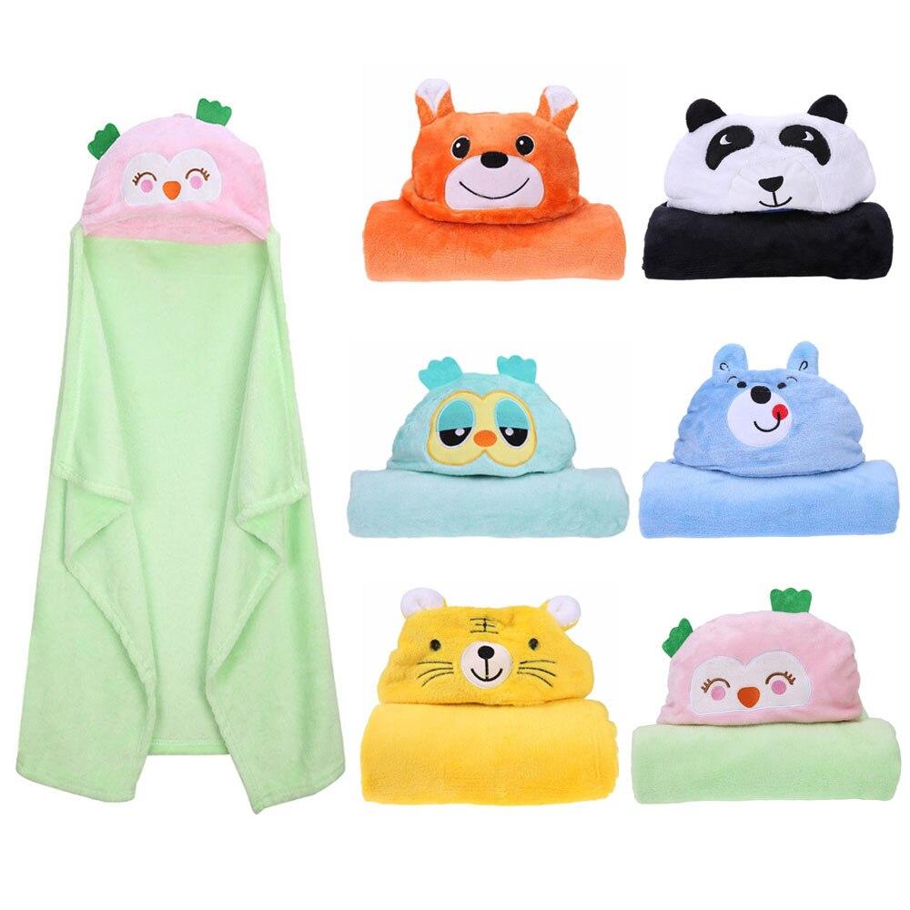 Comfortable Baby Bathrobe Cute Animal Cartoon Babies Blanket Kids Soft Hooded Bathrobe Toddler Baby Bath Towel