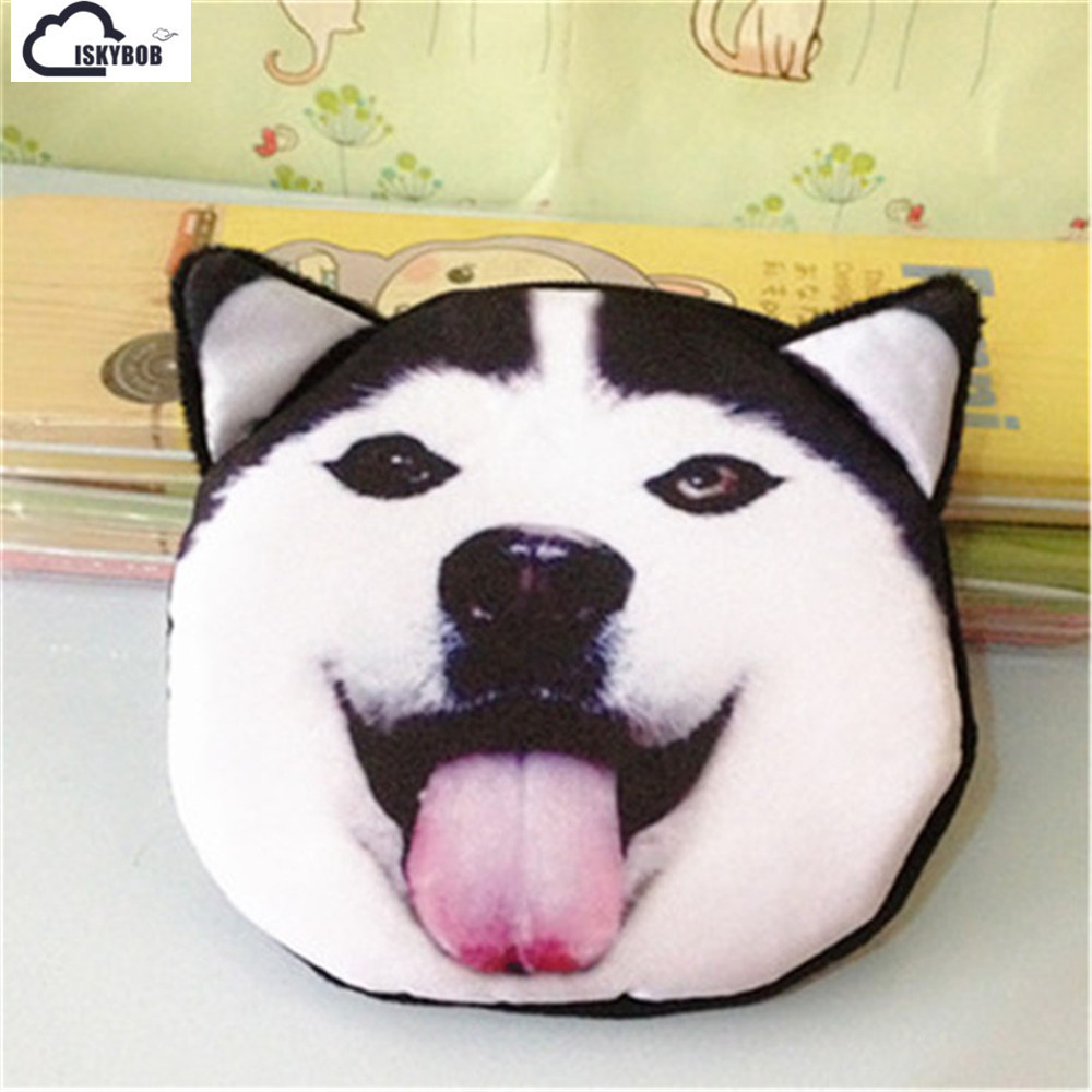 3D animal cat purse coin bag Super cute zipper mini coin purses cat shake dog 16 styles wallet coin purse bag stuffed cat new cute 3d animal face zipper case cat coin purse female wallet bolsas child purse makeup buggy bag pouch bolsa feminina