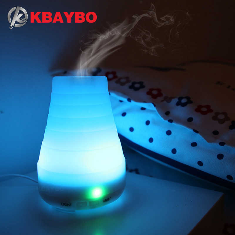 KBAYBO Essential Oil Diffuser 100ml Aroma Essential Oil Cool Mist Humidifier 7 Color LED Lights Changing for Home Office Baby 300ml humidifiers essential oil diffuser for aromatherapy premium cool mist aroma humidifier with changing colored led lights