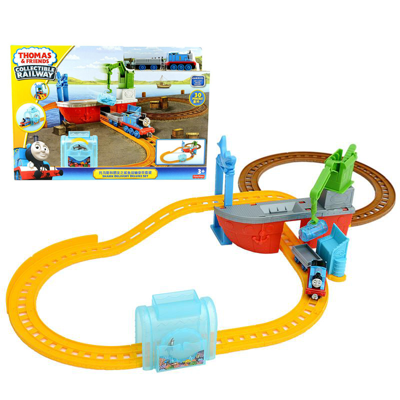 Original Brand Thomas And Friends Rail Train Shark Transport Deluxe Suite Educational Toys The Best  Birthday Gift For Kids
