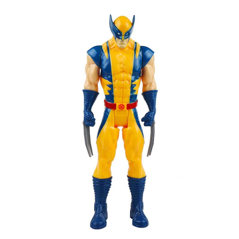 30cm Marvel Avengers Endgame Thanos Spiderman Hulk Buster Iron Man Captain America Thor Wolverine Action Figure Spielzeug Für Jungen geschenk