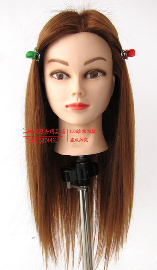 "Professional 22"" Golden Fiber Beautiful Hair Hairdressing Styling Training Head Model Female Mannequin"