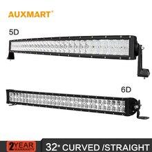Auxmart  32 inch 5D/6D LED Light Bar combo beam led bar Offroad truck trailer camper 4×4 4WD SUV ATV UTV RZV 12V 24V bar lights