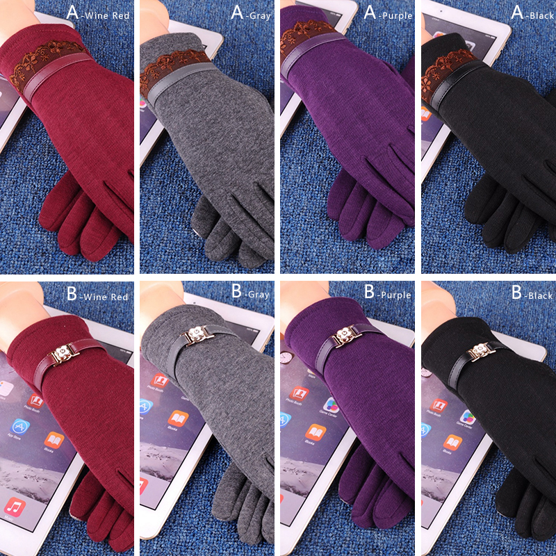 NAIVEROO Waterproof and Warm Touch Screen Gloves made of PU Leather and Conductive Fibers for Women Suitable for Spring and Winter 5