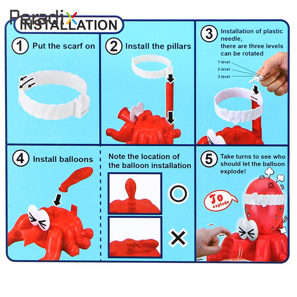 Octopus Explode Funny Boom Balloon Adventure Interactive Plastic Family Explode Game