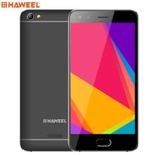 Оригинальный haweel H1 samrtphone Оперативная память 1 ГБ Встроенная память 8 ГБ 5.0 дюймов Android 6.0 MTK6580 Quad Core 1.2 ГГц 2300 мАч 3 г открыл телефон GPS