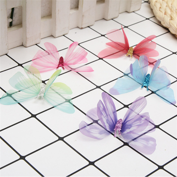 1 10PCS Colorful Butterfly For DIY Apparel Sewing & Fabric Lace Choker Necklace Women Clothing Sewing DIY Craft Supplies 30