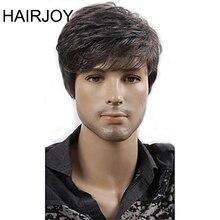 HAIRJOY Women Men Synthetic Wig Short Curly Layered Haircut