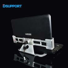 Aluminum Alloy Anti Theft Laptop computer Show Stand With Safety Lock and Key 13-19 inch Laptop computer Holder Bracke