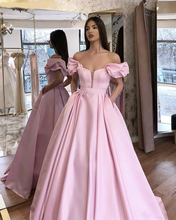 Verngo Pink Satin Evening Dresses Elegant Formal Dress Long Vintage Gown Vestido De Festa Longo