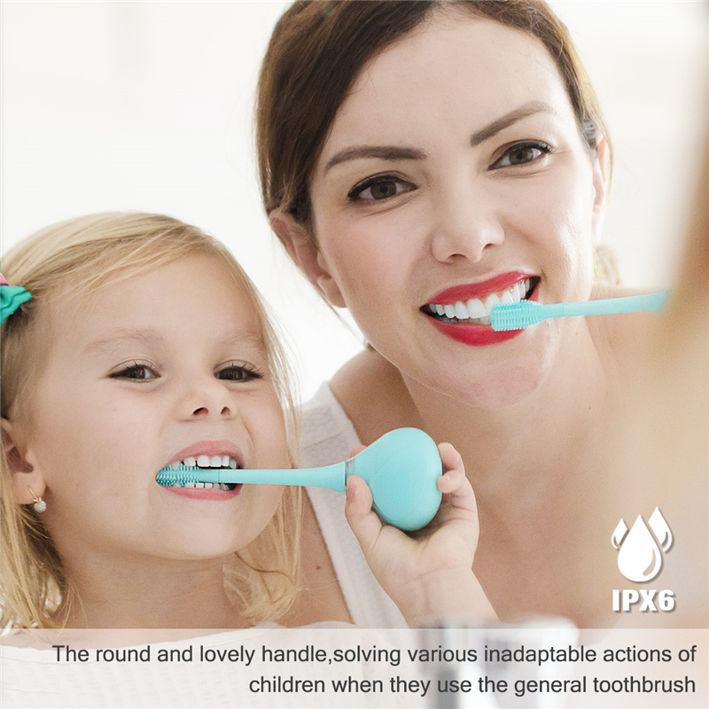 Electric Battery Operated Kid Toothbrush Electric Rotating Tooth Brush Brush Head Baby Cartoon Teeth Brush Oral Care image