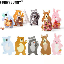 FUNNYBUNNY  Party Favor Mini Snack Packing Bags Super Cute Rabbit Raccoon Koala Bear Kangaroo Gift Bags for Candies Cookies rabbit and bear attack of the snack