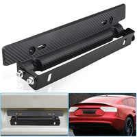Hot Universal Adjustable Carbon Fiber Pattern Car Racing License Plate Frame Holder Bracket JLD
