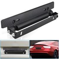 Quente universal ajustável fibra de carbono padrão carro de corrida suporte quadro da placa licença jld|Chapa de licença| |  -