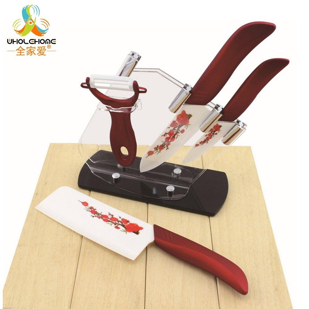 Ensemble couteau de cuisine en zircone de haute qualité couteau en céramique et accessoires ensemble 4
