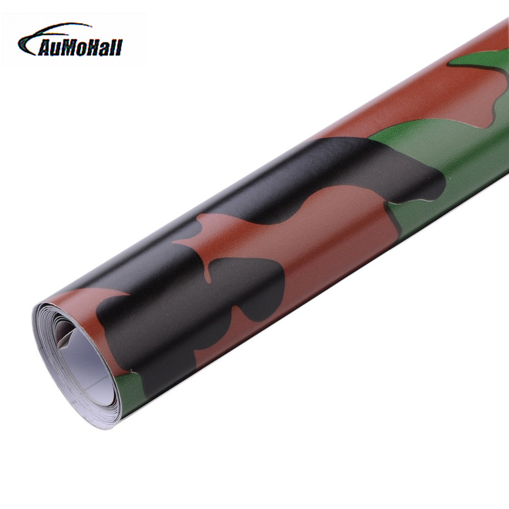 AUMOHALL 152*50 cm Car Styling Camouflage Car Stickers car wrap film auto stickers camo vinyl foil  Car accessories adesivos 40cmx200cm car styling 3d 3m carbon fiber sheet wrap film vinyl car stickers and decals motorcycle automobiles car accessories