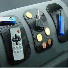 5 шт. новый мощный силикагель магия автомобиль черный липкий коврик противоскользящие non-slip авто антипробуксовочная сотового телефона GPS мат держатель