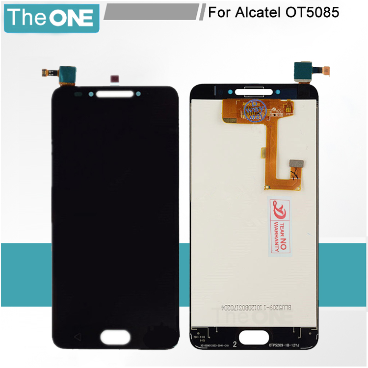 Black New Full LCD DIsplay + Touch Screen Digitizer Assembly For Alcatel A5 LED 5085 5085D 5085Y Free Shipping + Tracking new black white lcd touch digitizer screen assembly for ipod touch 5 5th gen generation free shipping low cost