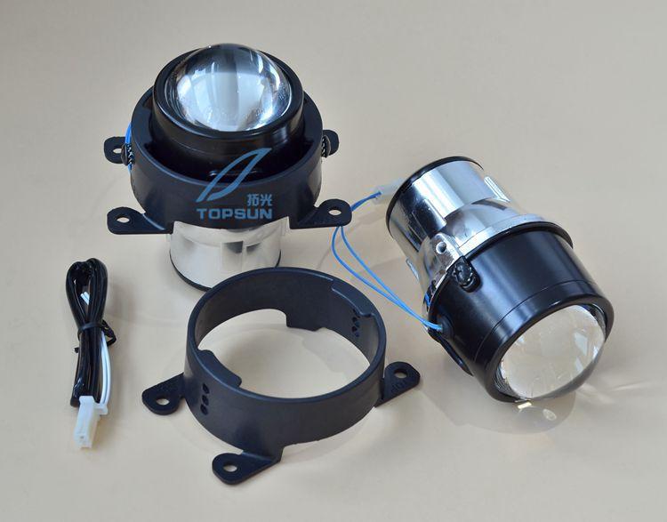 Бесплатная доставка автомобиля бифокальные противотуманные линзы передний бампер свет бифокальные линзы в сборе для Ford Focus CITROEN, DACIA Тайван...