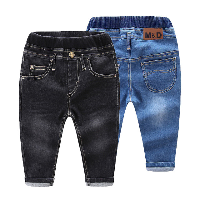 Girls Jeans Baby Kids Jeans for Children Boys Girls Leggings Kids Skinny Pants Toddler Pants Girl Kids Pants for Boy Cotton 1-5Y(China)