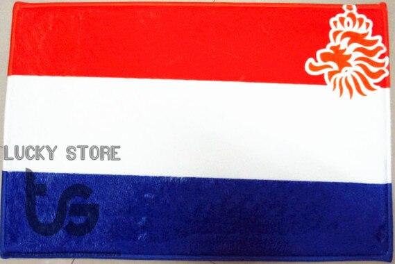 Netherlands Holland National flag series mat D08034 Front door bathroom soft warm water absorption carpet 40*60CM