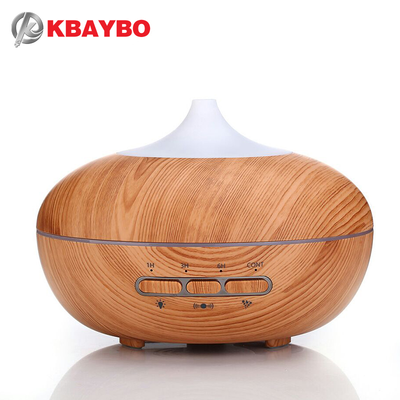 Automatic microwave sensor 300ml Aroma Diffuser Essential Oil Diffuser Aromatherapy Mist Maker with 7 Color LED Light Wood grain waterdrop 300ml wood essential oil diffuser aromatherapy humidifier aroma mist maker 3 models 7 color light timer setting