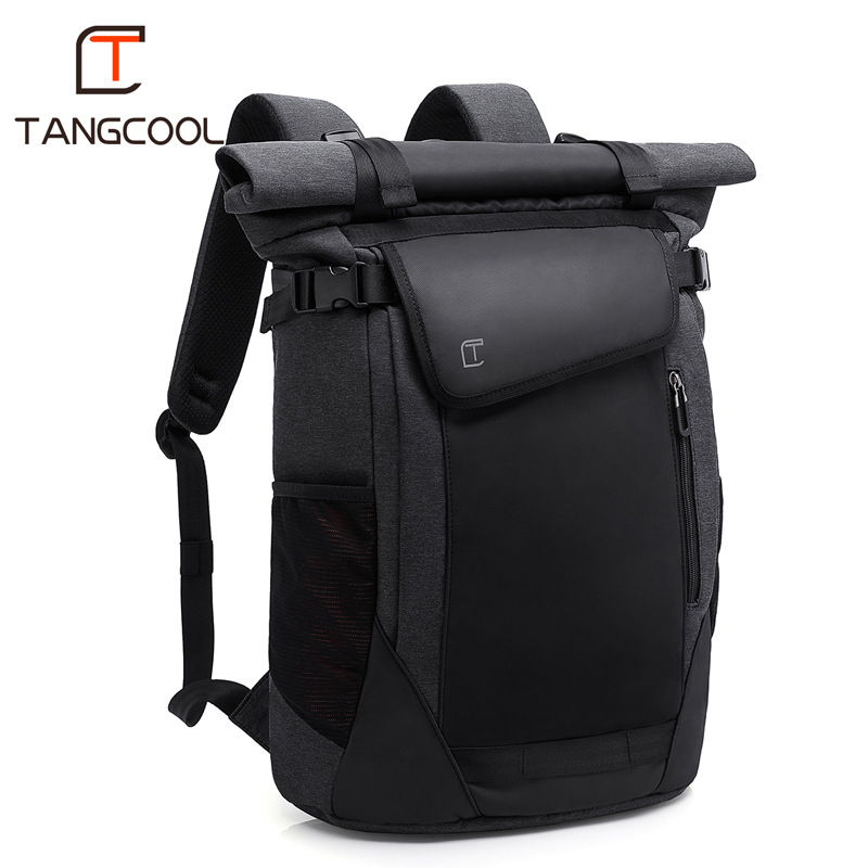 TANGCOOL Brand New Designer Men Fashion Daily Backpack Large Capacity for 15.6 Inch Laptop with USB Charging Port Travel Bags