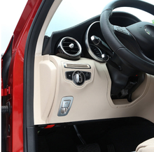 цена на For Mercedes Benz W213 E GLC Class C-Class W205 2015-2017 ABS Matte Chrome Car Electronic Handbrake Cover Trim