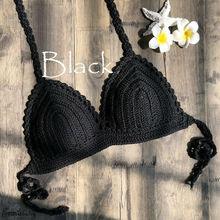 Hot Sexy Women Bikini Top One-Piece Crochet Lace Bralette Knit Bra Lady Monokini Push Up Boho Beach Cami Crop Swimsuit Swimwear недорого