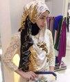 2016 новый Цветок Печати Кружева хиджаб, шарф, шаль, 180*70 см. 10 шт. 1 лот, можете выбрать цвета
