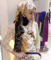 2016 nova Cópia Da Flor Rendas hijab, cachecol, xale, 180*70 cm. 10 pcs 1 lote, pode escolher as cores