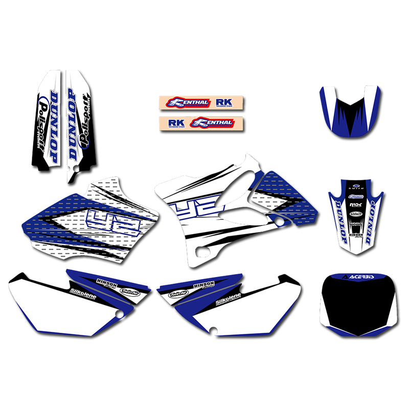 GRAPHICS BACKGROUNDS DECAL STICKER Kits for Yamaha YZ85 YZ 85 2002 2003 2004 2005 2006 2007
