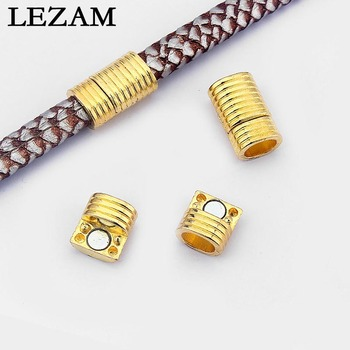 5 conjuntos oro tono fuerte Cierre magnético pulsera hallazgos para 10x6mm regaliz cuero cordón DIY pulsera joyería conclusiones