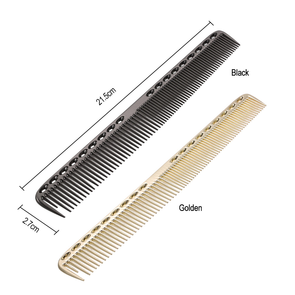 2 In 1 Hairbrush Aluminum Hair Comb Salon Hairdresser Comb Women Man Makeup Hair Cutting Combs Hair Care Styling Brush Tools 5