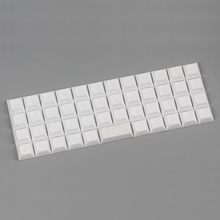 Niu 40 dsa keycap пустой белый для механической клавиатуры 47 клавиш dsa профиль keycap