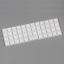 Niu 40 dsa keycap blank white for mechanical keyboard 47 keys dsa profile keycap