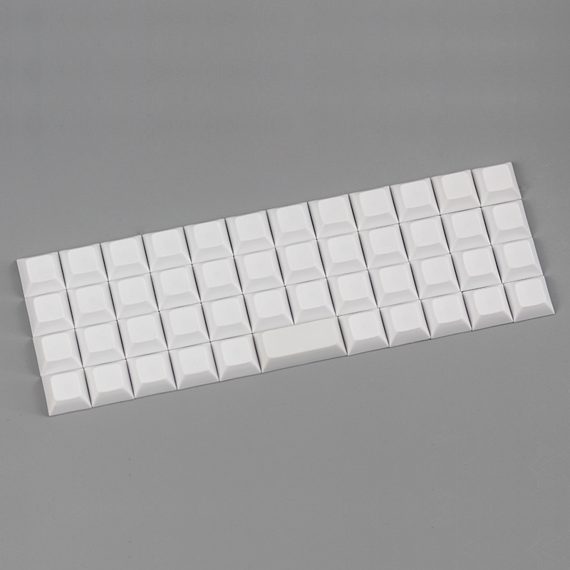 Niu 40 dsa keycap blank white for mechanical keyboard 47 keys dsa profile keycap цена 2017
