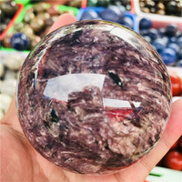 6 8cm natural purple dragon stone polished crystal treated ball